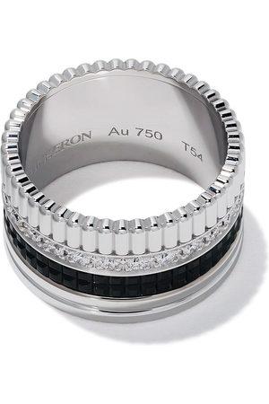 Boucheron 18kt white gold Diamond Quatre Black large ring - WG
