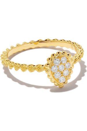 Boucheron Women Rings - 18kt yellow gold Diamond Serpent Bohème XS motif ring - YG
