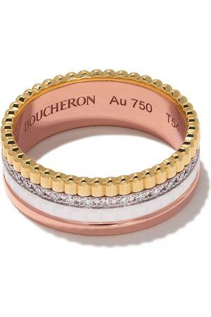 Boucheron 18kt rose, white and yellow gold Diamond Quatre White small ring - 3G