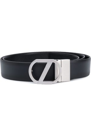 Z Zegna Logo plaque belt