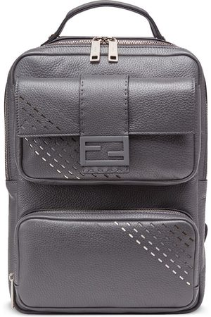 Fendi Men Rucksacks - Baguette cut out backpack - Grey
