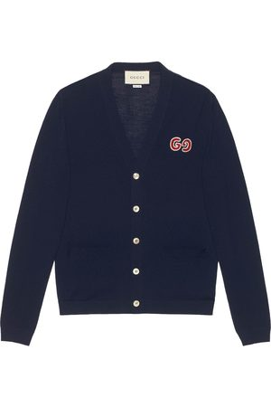 Gucci GG logo patch cardigan