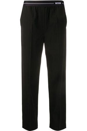 Msgm Elasticated waist straight-leg trousers