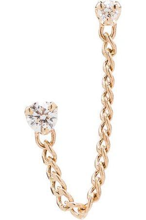 Zoe Chicco 14kt diamond stud chain earring