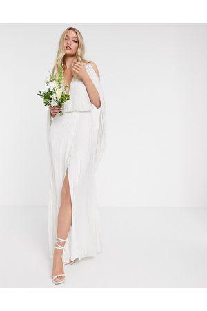 ASOS Samantha beaded wedding dress with drape sleeves
