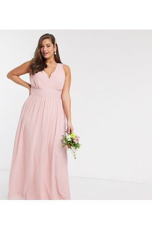 TFNC Bridesmaid Plus top wrap chiffon dress