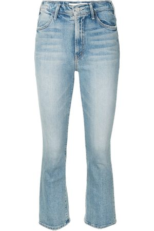 Mother I Confess high-rise cropped kick-flare jeans