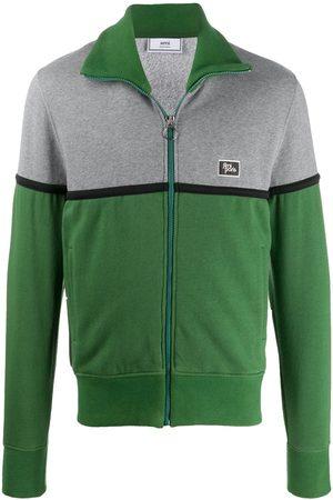 Ami Logo patch zipped sweatshirt