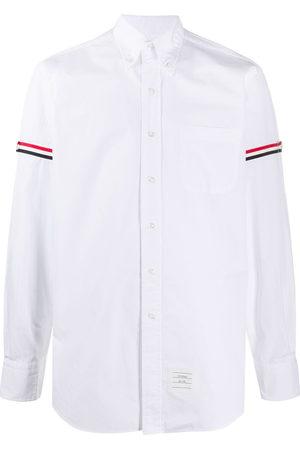 Thom Browne Men Shirts - RWB stripe buttoned shirt