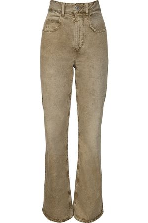 Isabel Marant Belvirac Cotton Denim Flared Jeans