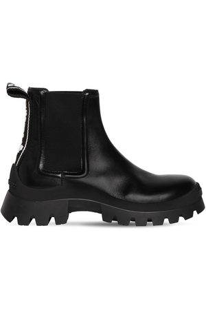 Dsquared2 40mm Tank Tape Leather Beatle Boots