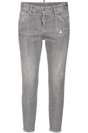 Dsquared2 Stretch Cotton Denim Crop Skinny Jeans