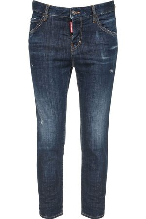 Dsquared2 Stretch Cotton Crop Skinny Jeans