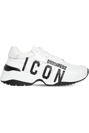 Dsquared2 40mm D24 Icon Printed Leather Sneakers