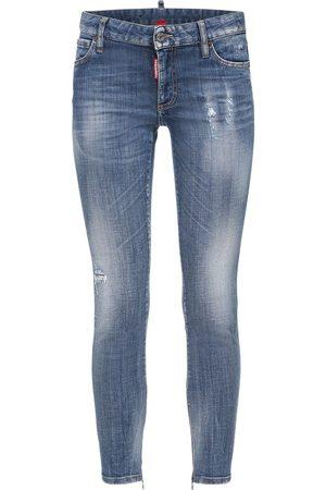 Dsquared2 Twiggy Skinny Jeans W/ Back Logo