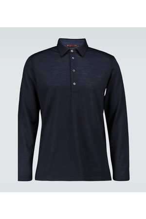 BARENA Long-sleeved knitted polo shirt
