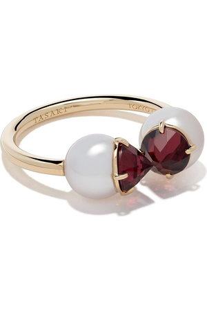 Tasaki Women Rings - 18kt refined rebellion signature garnet ring