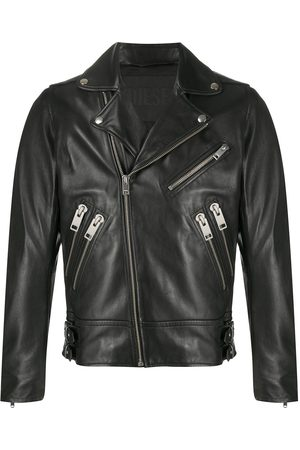 Diesel Buckled multi-pocket bikerjacket