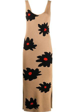 Chinti And Parker Floral knit maxi dress - Neutrals