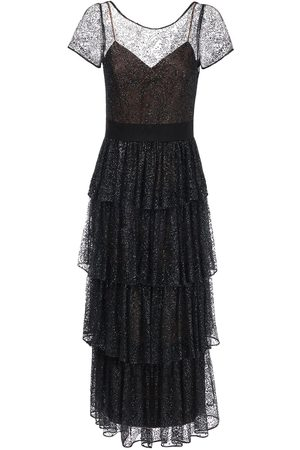Marchesa Notte Women Dresses - Ruffled Long Tulle Dress