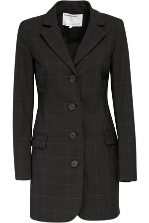 Designers Remix Aja Wool Blend Crepe Mini Blazer Dress