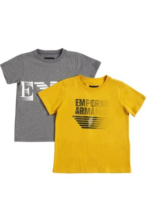 Emporio Armani Set Of 2 Logo Cotton Jersey T-shirts