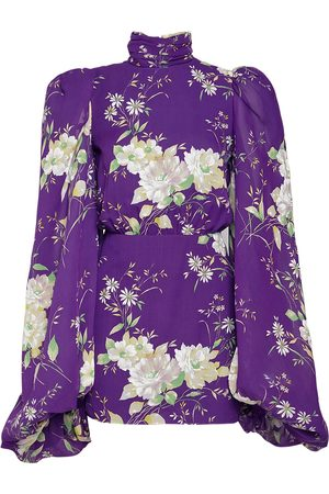 The Attico Floral Print Chiffon Mini Dress