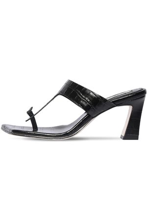 Reike Nen 70mm Croc Embossed Leather Sandals