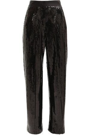 Alessandra Rich High Waist Sequin Wide Leg Pants