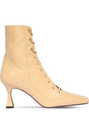 MANU 80mm Lace-up Leather Ankle Boots