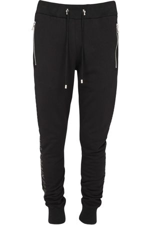Balmain Logo Print Cotton Sweatpants