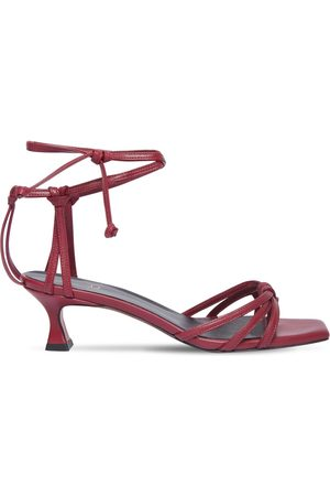 MANU 50mm Lace-up Leather Sandals