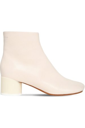 MM6 MAISON MARGIELA 50mm Leather Ankle Boots