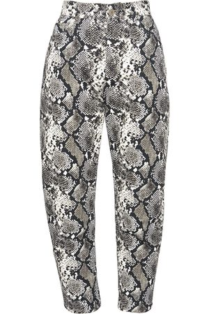 The Attico Python Print Denim Slouchy Jeans
