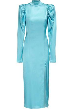 ROTATE Theresa Satin Midi Dress