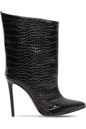 ALEXANDRE VAUTHIER 110mm Croc Embossed Leather Ankle Boot
