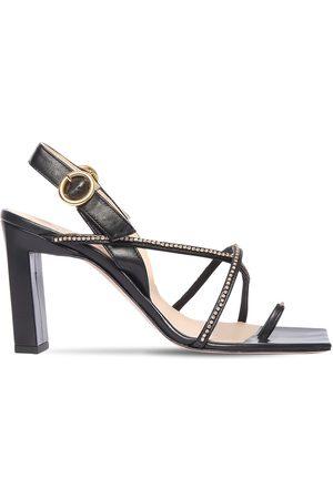 Wandler 85mm Elza Embellished Leather Sandals