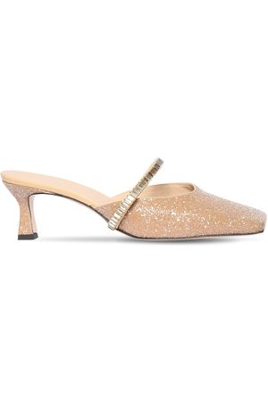 Wandler 55mm Isa Glittered Cotton Blend Mules