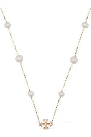 Tory Burch Kira Pearl Long Necklace