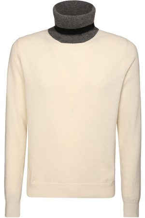 Maison Margiela Men Turtlenecks - Cashmere Blend Turtleneck Sweater