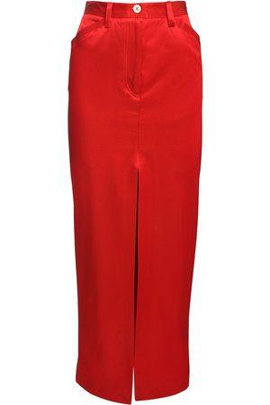 SUNNEI High Waist Cotton Blend Twill Skirt