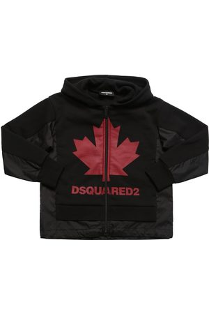 Dsquared2 Leaf Cotton & Nylon Zip-up Sweatshirt