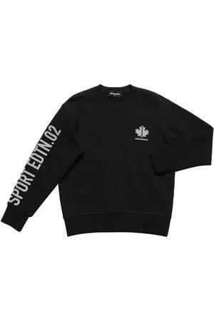 Dsquared2 Boys Sweatshirts - Printed Cotton Sweatshirt