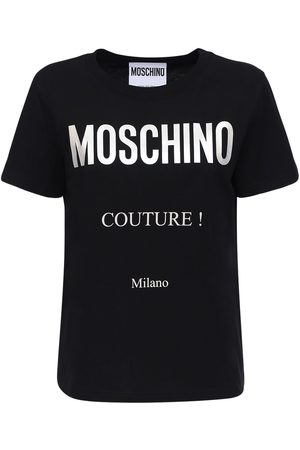 Moschino Couture Logo Cotton Jersey Slim T-shirt