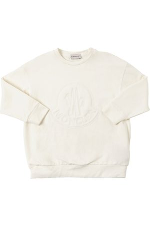 Moncler Over Logo Embroidery Cotton Sweatshirt