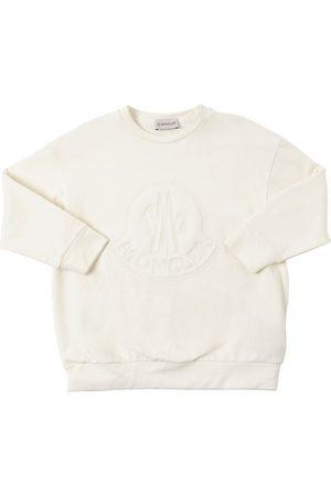 Moncler Over Logo Embroidery Cotton Sweatshirt