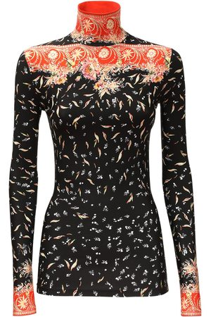 Paco rabanne Women High Necks - Printed Stretch Jersey Turtleneck Top
