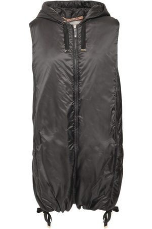Max Mara Women Gilets - Waterproof Quilted Nylon Vest Jacket