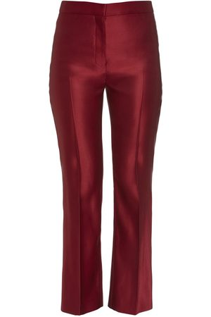 Alexander McQueen Silk Double Duchesse Cigarette Pants