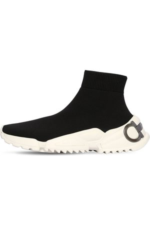 Salvatore Ferragamo 20mm Raquel Knit Sock Sneakers
